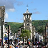 Keswick main square and Moot Hall