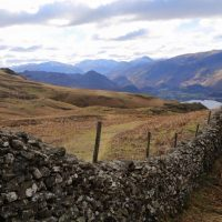 Walk down from Walla Crag, by Ruth