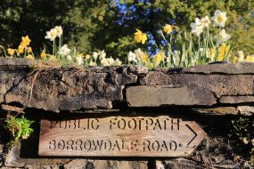 Path to Borrowdale from Cumbria House, by Ruth