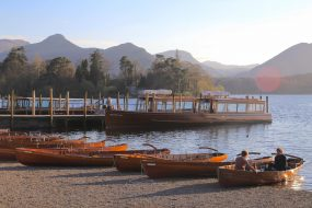 The Keswick Launch and rowing boats