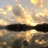 Derwentwater at sunset, by Ruth
